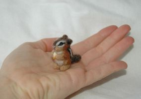 Needle Felted Chipmunk 4 Japan by amber-rose-creations
