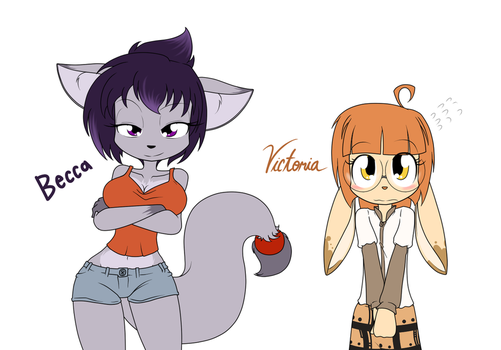 The New girls: Becca And Victoria by Sandwich-Anomaly
