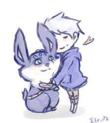 Jack frost and Bunnymund 19 by saeru-bleuts
