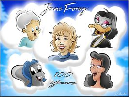 June Foray - 100 Years by JCThornton
