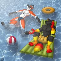 Relax at the Pool by ziude