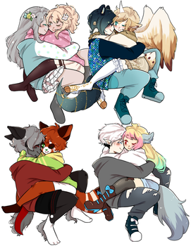 Couples ych by Luemarii