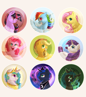Buttons designs by Segraece