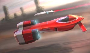 Aeron Racer Red Tail by hyxhoratio