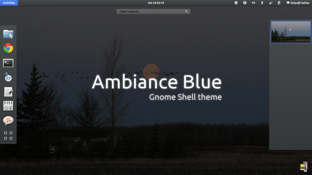 Gnome Shell - Ambiance Blue by satya164