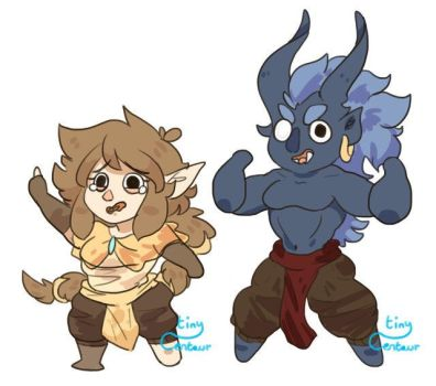 Cheebs - Primrose and Bhaltair by Tiny-Centaur