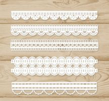 5 White Lace Design Vector by FreeIconsdownload