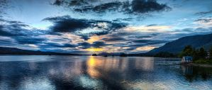 Sunset Panorama over Danger Island by Muskeg