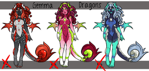 Adoptables : Gemma Dragons Set 5 : SOLD OUT by Arofexdracona