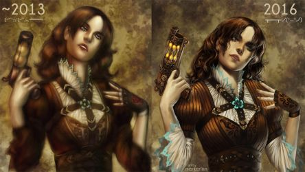 Before and After (Steam Girl repaint) by merkerinn