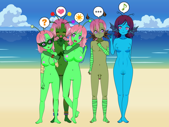 Nude Beach Aliens by SomeBodyKares1