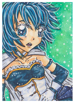 ACEO .:Sayaka Magica:. by PinkPoink