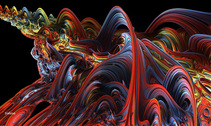 Fractal Ribbons Of Color by SidicusMaximus