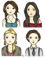 Pretty Little Liars doodles by kimpertinent