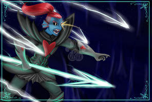 Undertale-Undyne the Undying by Uru1