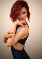 Sultry Redhead 2 by scifigiant