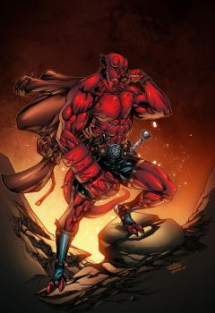 Hellboy - feb2rd2015 Alonso  Espinoza colors by SpiderGuile