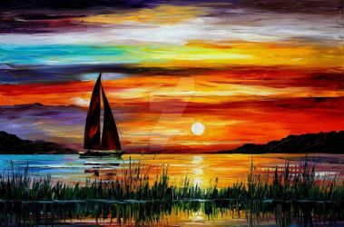 FLORIDA - LAKE OKEECHOBEE by Leonid Afremov by Leonidafremov