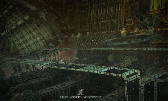 Giger assembly line factory 2 by IvanDuran9
