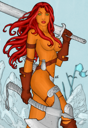 CP_47 - Red Sonja by LCFreitas Coloured by noitcartsbalatot