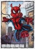 Spider-Ham Sketch Card by tonyperna