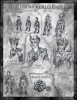 Underworld Empire Characters by JRTribe