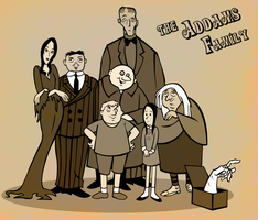 The Addams Family 1973 by Christ-Off