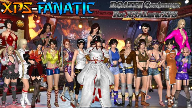 DOATEK Cosplay Costumes for XNALara/XPS by XPS-Fanatic
