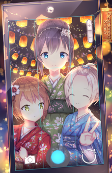 The Three Beauties - At the Festival by Feitaru