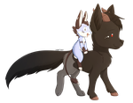 Commission: Numra And Mewt by Foxhatart