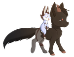 Commission: Numra And Mewt by foxhat94