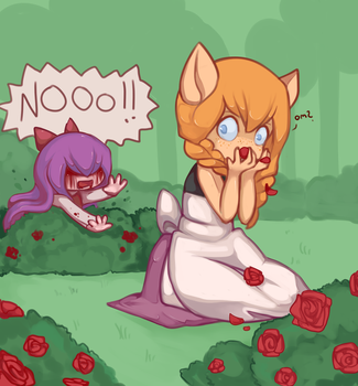 Devouring the witch's roses by MantaTheMisukitty