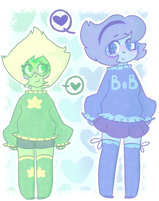 *+:,.'Lapis and Peridot'.,:+* by Milky-mint