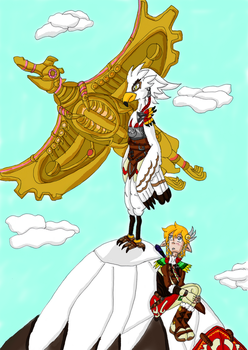 Teba and Link by Oline02