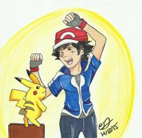 C: Good Morning Pikachu! by Aurore-Castle