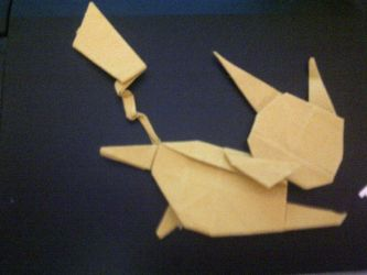 Pikachu Origami by Condemned-By-Cookies