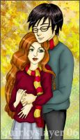 Lily and James Potter by quirkypaynesgrey