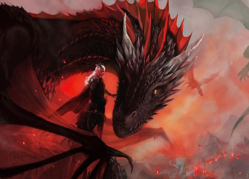 Daenerys and Drogon by kittrose