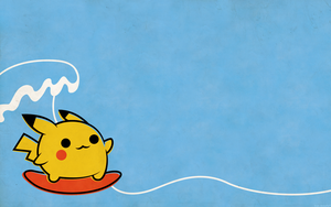 Pika Surf Wallpaper by beyx
