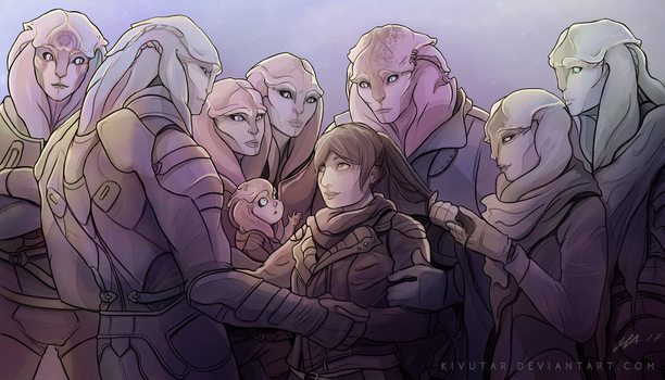 Andromeda family by Kivutar
