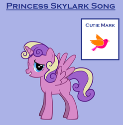 Princess Skylark Song the Alicorn by ReddRedPanda
