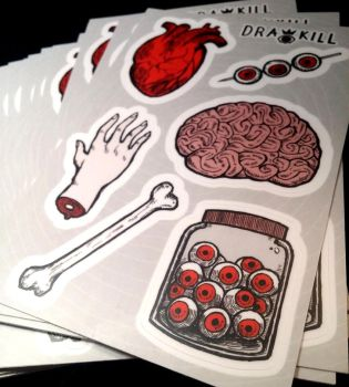 Gore Stickers! by DrawKill