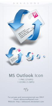 Microsoft Outlook Icon by akkasone