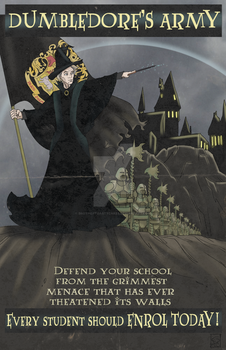 Dumbledore's Army propaganda poster by BrotherToastyCakes