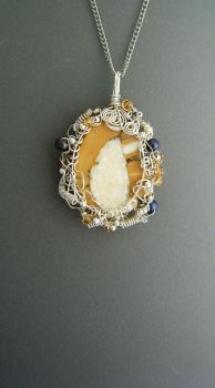 wrapped fossil ivory necklace by EskimoScrybe