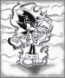 Dark Sonic and Amy 2 by ArisuAmyFan