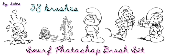 Smurf Brushes for PhotoshopCS3 by punkdoutkittn