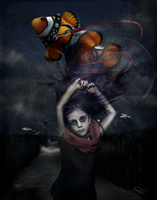 Delirium ( Sandman ) and her Fish by DieElster
