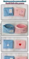 Custom-made Snail Mail coin purses by BlueDove415