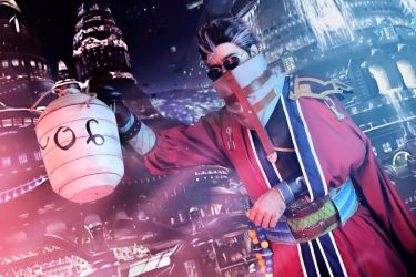 Auron cosplay from Final Fantasy X (FFX) by Exerbrang